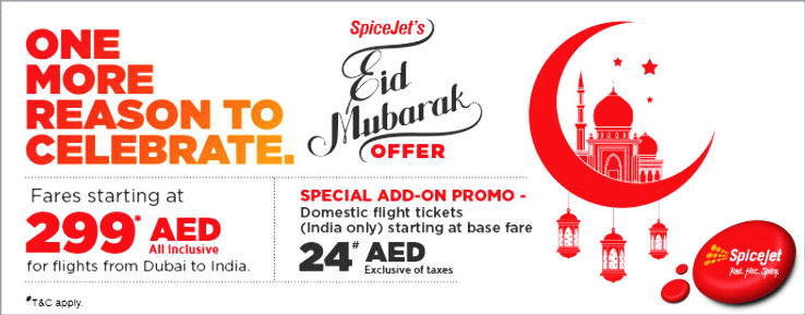 Special EID MUBARAK fares on Dubai-India Travels from